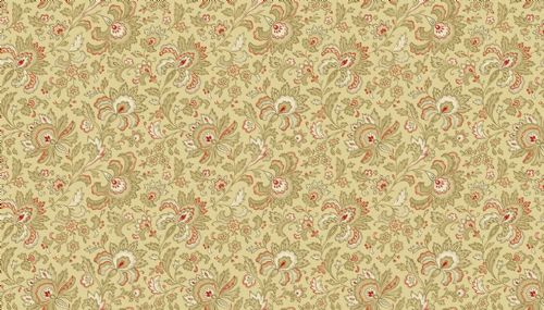 Riviera Rose Small Tan Jacobean Floral  2/9085L